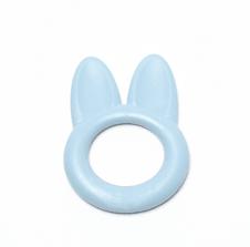 Bijtring konijn blauw