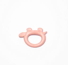 bijtring roze koe