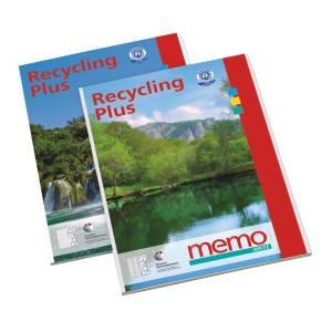 "briefpapierblok A4 - 50 vel gelijnd ""memo - recycling plus"" recycled papier"