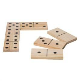 Grote houten dominostenen