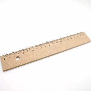 Houten lat 20 cm met staalkant