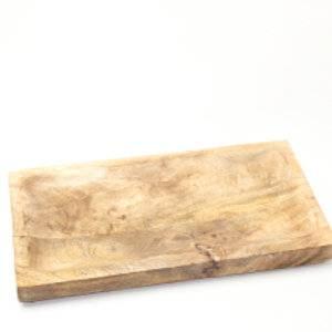 mango houten rechthoekige schaal