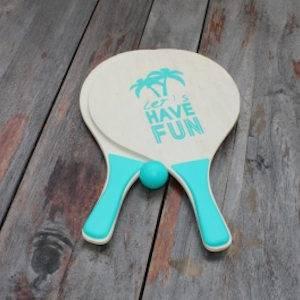 Strand racket blauw