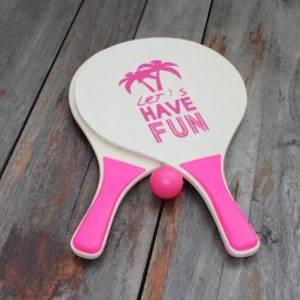 Strand racket roze