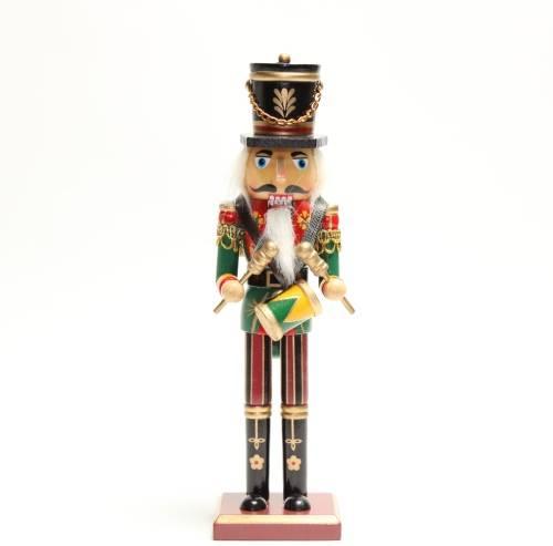 kerst notenkraker 25 cm trommel
